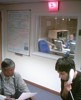 Directing a London bombings 'special' from Leeds Trinity. The BBC could not recall broadcasting the program (14-7-2005).